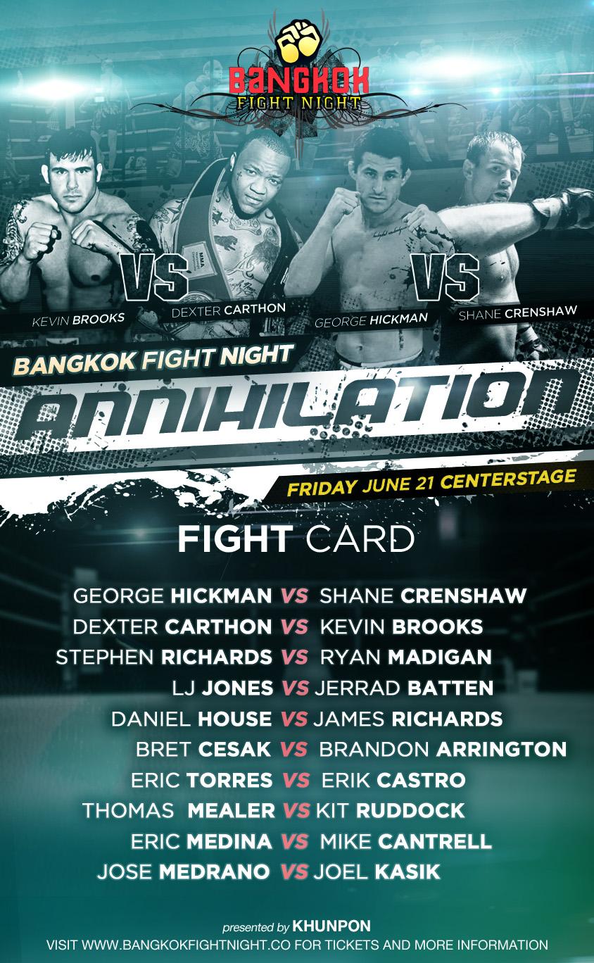 fightcard annihilation